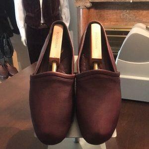 L.B.Evans burgundy slippers size 11m